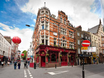 Chinatown, London, UK. London, England. May 22, 2014. Chinatown is part of the City of Westminster, occupying the area in and around Gerrard Street Royalty Free Stock Images