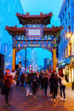 Chinatown in London, UK, at night Stock Images