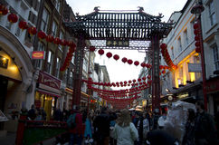 Chinatown London. Is very crowded on weekend Royalty Free Stock Image