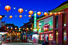Chinatown In Los Angeles. Los Angeles - June 25, 2011:  Chinatown in Los Angeles was established in the 19th century as a residential area of the city for Royalty Free Stock Images