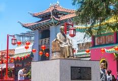 Chinatown Los Angeles Architecture lumineuse dans le Chinatown ethnique photo libre de droits