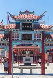 Chinatown Los Angeles Architecture lumineuse dans le Chinatown ethnique Attractions touristiques de Los Angeles photographie stock