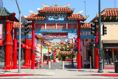 Chinatown, Los Angeles. Entrance gate to Chinatown, Los Angeles Royalty Free Stock Image