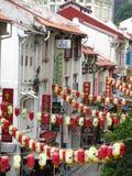chinatown lyktor Royaltyfria Bilder