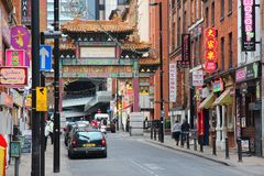 Chinatown in Manchester Stock Images