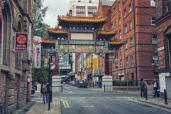 Chinatown in Manchester Royalty Free Stock Photos