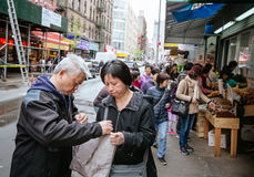 Chinatown, Manhattan, New York, Verenigde Staten Stock Afbeelding