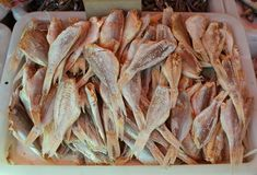 Chinatown Market, Dried Fish Royalty Free Stock Photography