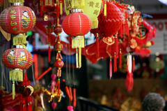 chinatown marknadslager royaltyfri foto