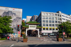Chinatown on May 30, 2014 in Boston Stock Photography