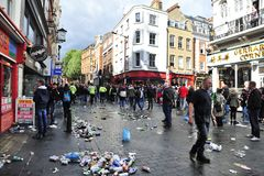 Chinatown mess in London Stock Photo