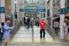 Chinatown MRT Station Entrance Stock Photography