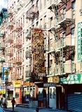 Chinatown-Nachbarschaft in New York lizenzfreie stockfotos