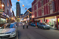 Chinatown nachts lizenzfreie stockfotografie