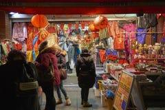 chinatown natt Arkivfoton