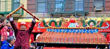 Chinatown-neues Jahr-Mondparade stockfotografie