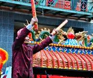 Chinatown-neues Jahr-Mondparade stockfoto