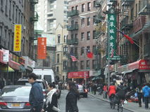 Chinatown in New York City Royalty Free Stock Photography