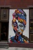 Chinatown - New york - scene de street art ancienne. Scene n& x27;existant plus de street art dans le quartier de Chinatown à New york Royalty Free Stock Image
