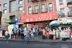 Chinatown in NYC Stockfotos