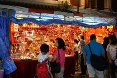 Chinatown ocupado a la víspera del Año Nuevo chino Fotografía de archivo libre de regalías