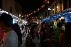 Chinatown ocupado a la víspera del Año Nuevo chino Imágenes de archivo libres de regalías