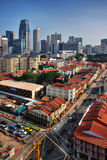 chinatown område singapore Fotografering för Bildbyråer