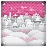Chinatown para la tarjeta de felicitación china del Año Nuevo Imagenes de archivo