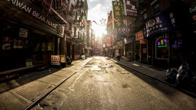 Chinatown Pell st. View at Pell St. Chinatown Royalty Free Stock Photo