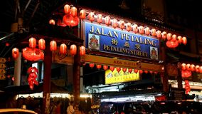 Chinatown at Petaling Street stock footage