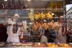 Chinatown Restaurant window NYC Royalty Free Stock Photography