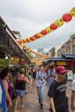Chinatown Robi zakupy teren podczas Chińskiego nowego roku, Singapur, Febr obrazy stock