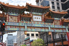 Chinatown`s Friendship Archway in Washington DC Stock Images