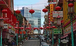 Chinatown in San Francisco, CA Royalty Free Stock Photos
