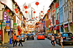 chinatown singapore Arkivfoto