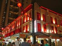 Chinatown Singapore Night Scene Stock Photos
