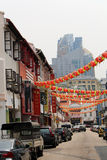 Chinatown Singapore. Singapore/Singapore - November 5, 2015: View of a street in Singapore's Chinatown Royalty Free Stock Image