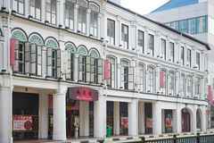 CHINATOWN, SINGAPORE OCTOBER 10, 2015: colorful historic architecture Royalty Free Stock Photography