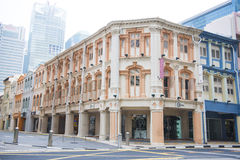 CHINATOWN, SINGAPORE OCTOBER 10, 2015: colorful historic architecture Royalty Free Stock Photos