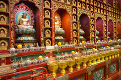 CHINATOWN, SINGAPORE - OCTOBER 12, 2015: interior of buddha toot. H relic temple & museum is a very famous in Chinatown, Singapore on October 12, 2015, building Stock Photos