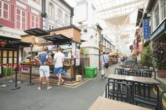 CHINATOWN, SINGAPUR - 12 DE OCTUBRE DE 2015: zona de la calle de la comida en ji Foto de archivo libre de regalías