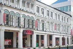 CHINATOWN, SINGAPUR AM 10. OKTOBER 2015: bunte historische Architektur Lizenzfreie Stockfotografie