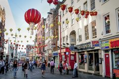Chinatown, Soho, Londyn, Zjednoczone Królestwo zdjęcie stock
