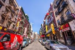 chinatown stad New York arkivfoto