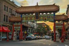 Chinatown in stad van Victoria, het Eiland van Vancouver, Canada royalty-vrije stock afbeeldingen