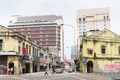Chinatown street in Kuala Lumpur royalty free stock photography