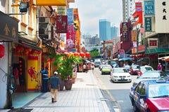Chinatown street, Kuala Lumpur Royalty Free Stock Images