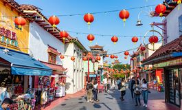 Free Chinatown Street, Los Angeles Downtown, California USA Royalty Free Stock Photos - 159109608