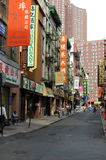 Chinatown Street in New York City Royalty Free Stock Photos