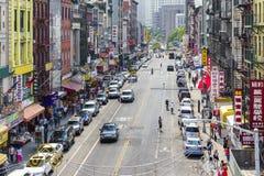 Chinatown Street Scene in New York City Royalty Free Stock Image
